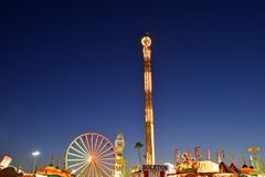 San Diego County Fair Scene At Night Stock Photo