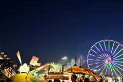 San Diego County Fair Scene At Night Stock Photos