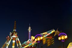 San Diego County Fair Scene At Night Stock Images