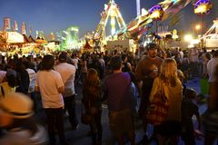San Diego County Fair Scene At Night Royalty Free Stock Photography