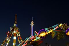 San Diego County Fair Scene At Night Stock Photography