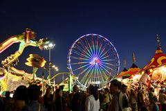 San Diego County Fair Scene At Night Royalty Free Stock Images