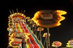 San Diego County Fair Scene At Night Royalty Free Stock Photo