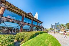 SAN DIEGO - 30 DE JULHO DE 2017: Skyline e construções de San Diego avante Fotos de Stock