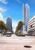 San Diego, del centro, costruzioni dei grattacieli Fotografie Stock