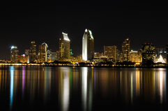 San Diego down town night view Stock Photography