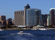 San Diego Downtown. Boating in the San Diego Bay Stock Photography