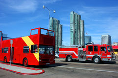 San Diego downtown. San Diego California downtown, transportation royalty free stock images