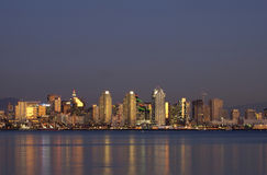 San diego_downtown_dsc6527. San Diego downtown at dusk Royalty Free Stock Images