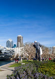 San Diego downtown form USS midway museum park Royalty Free Stock Image