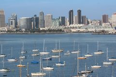 San Diego Downtown and Harbor. San Diego, California. Downtown and Harbor View Royalty Free Stock Image