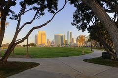 San Diego downtown marina. And convention cener royalty free stock image