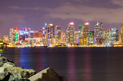 San Diego Downtown at Night royalty free stock photography