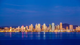 San Diego downtown skyline at night Stock Photography