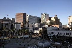 San Diego downtown in sunny day with great atmosphere Stock Images
