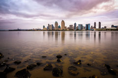 San Diego Downtown at sunset Stock Images