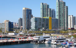 San Diego downtown view. Downtown and harbor view of San Diego, California. Picture taken on July 2, 2016. San Diego is a city on the Pacific coast of California Stock Photos