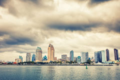 San Diego Downtown. View on San Diego Downtown from the ocean Stock Images