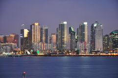 San Diego at dusk Royalty Free Stock Photography
