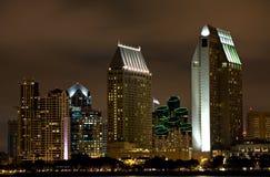 San Diego en la noche Fotos de archivo libres de regalías