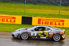 San Diego Ferrari emballant au prix grand de Montréal Photo stock