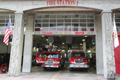 San Diego Fire-Rescue Department Fire Station 1 in San Diego, Californië Royalty-vrije Stock Afbeelding