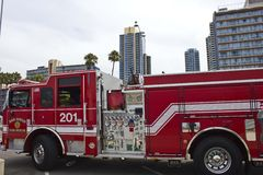San Diego Fire Rescue vehicle Stock Images