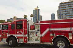 San Diego Fire Rescue vehicle Stock Photography
