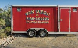 San Diego Firetruck Fotografía de archivo libre de regalías