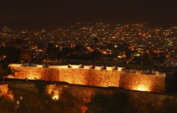 San Diego Fort. At night in Acapulco, Mexico Royalty Free Stock Image