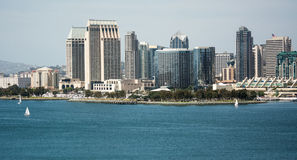 San Diego från accoss fjärden Royaltyfri Bild