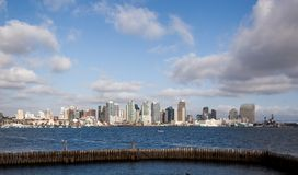 San Diego från fjärden Arkivfoto