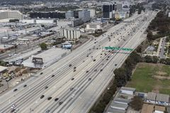 San Diego Freeway Aerial Imagens de Stock Royalty Free