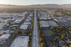 San Diego 405 Freeway Aerial in the San Fernando Valley Stock Photo