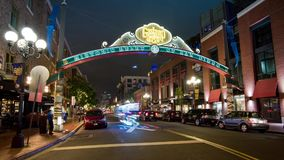 San Diego Gaslamp Quarter stock video