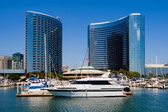 San Diego Harbor and downtown. In a summer royalty free stock images
