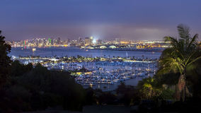 San Diego Harbor and downtown panoramic views Royalty Free Stock Image