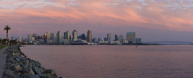 San Diego Harbor at Sunset Stock Photos