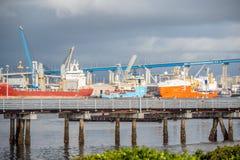 San Diego harbor - view from Coronado - CALIFORNIA, USA - MARCH 18, 2019 stock photography