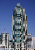 San Diego Highrise. Highrise building in downtown San Diego Royalty Free Stock Image