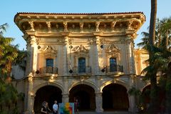 San Diego History Center, Balboa parkerar royaltyfria foton