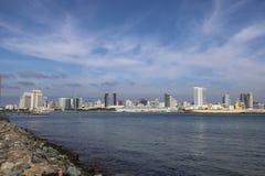 San Diego horisont royaltyfri bild