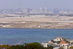 San Diego horisont från Point Lomaön Kalifornien. Arkivbild