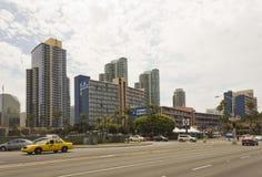 San Diego i stadens centrum skyskrapabyggnader Arkivfoton