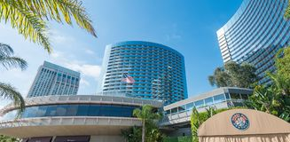 SAN DIEGO - JULY 29, 2017: Modern buildings of San Diego skyline royalty free stock images