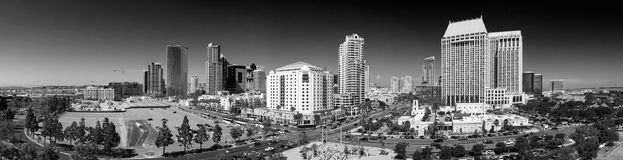 SAN DIEGO - JULY 30, 2017: Panoramic aerial city view. San Diego stock photography
