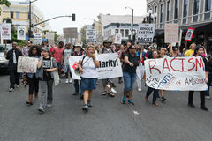 SAN DIEGO - July 20, 2013 protesters carried placards in support Stock Photography