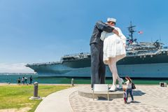 SAN DIEGO - JULY 30, 2017: Unconditional Surrender sculpture at Stock Photography