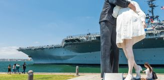 SAN DIEGO - JULY 30, 2017: Unconditional Surrender sculpture at Stock Photo