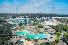 Aerial view of the famous SeaWorld. San Diego, JUN 27: Aerial view of the famous SeaWorld on JUN 27, 2018 at San Diego, California royalty free stock image